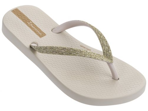 Ipanema - Flip-flops for girls - Lolita - beige / glitter - Front