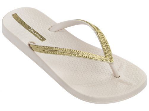 Ipanema - Flip-flops for women - Anatomic Mesh - beige / gold - Front