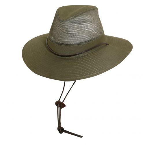 Dorfman-Pacific---UV-safari-hat-for-men---Loden