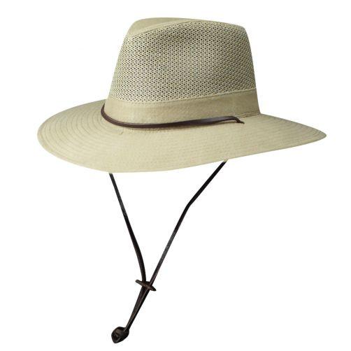 Dorfman-Pacific---UPF-50+-Men's-UV-Hat-Camel