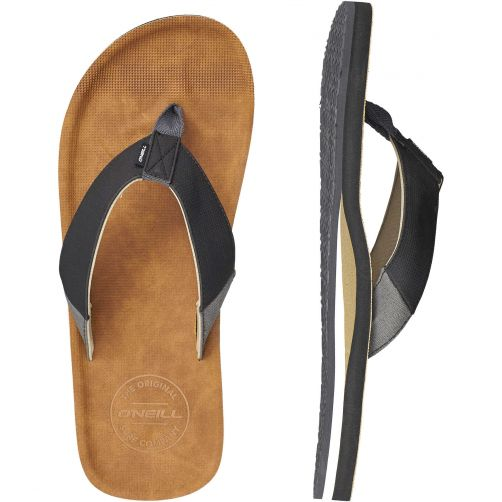 O'Neill - Flip-flops for men - Chad - Tobacco brown - Front