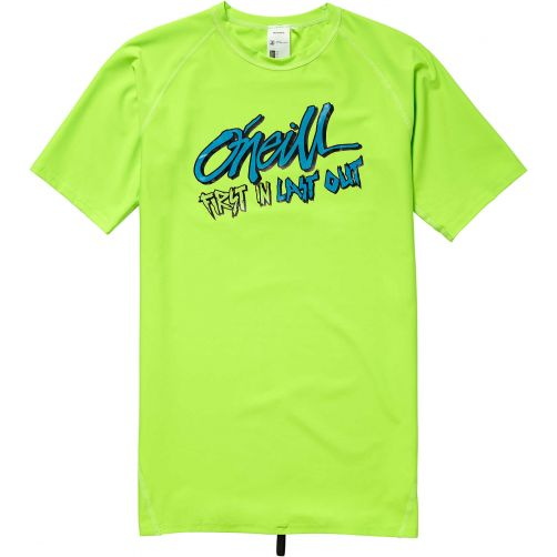 O'Neill - UV swim shirt for boys - First in Last out - Fluor green - Front