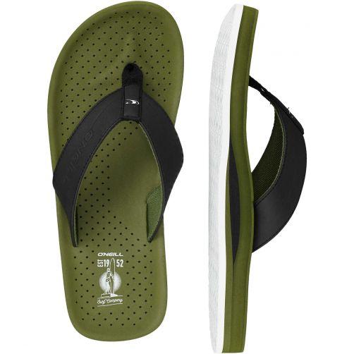 O'Neill - Flip-flops for men - Punch - Bronze green - Front