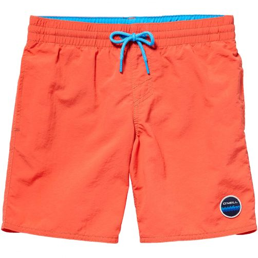 O'Neill - UV swimming trunks for boys - Vert - Hibiscus red - Front