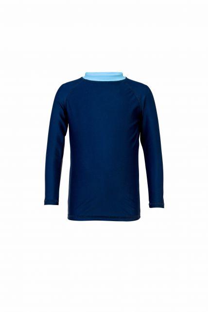 Snapper Rock Navy//Light Blue Long Sleeve Rash Top