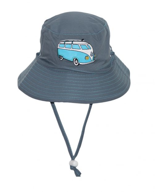 Rigon---UV-bucket-hat-for-children---Blue-combi-bus