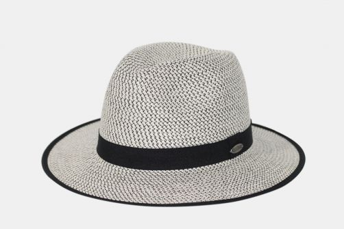 Rigon---UV-fedora-hat-for-women---Anja---White-/-black