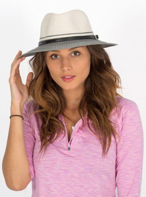 Rigon---UV-sun-hat-for-women---Ivory-/-black