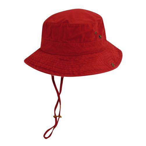 Dorfman-Pacific---UPF-50+-Men's-UV-Hat-Red/Navy