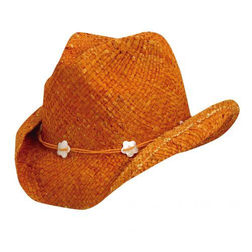 Scala---UV-cowgirl-hat-for-Kids---Orange