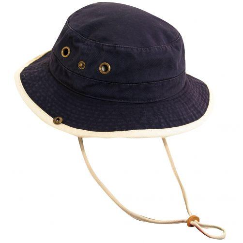 Scala---UV-boonie-hat-for-Kids---Navy-Putty