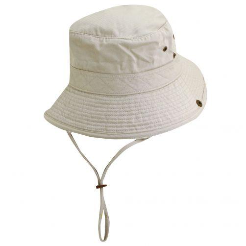 Scala---UV-boonie-hat-for-Kids---Putty-Black