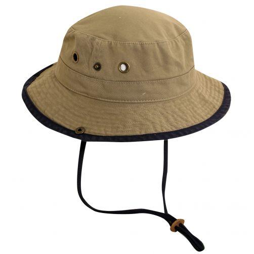 Scala---UV-boonie-hat-for-Kids---Kaki-Navy