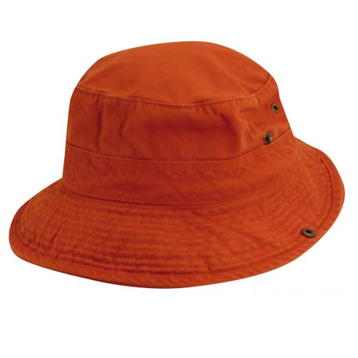 Scala---UV-boonie-hat-for-Kids---Orange-Navy