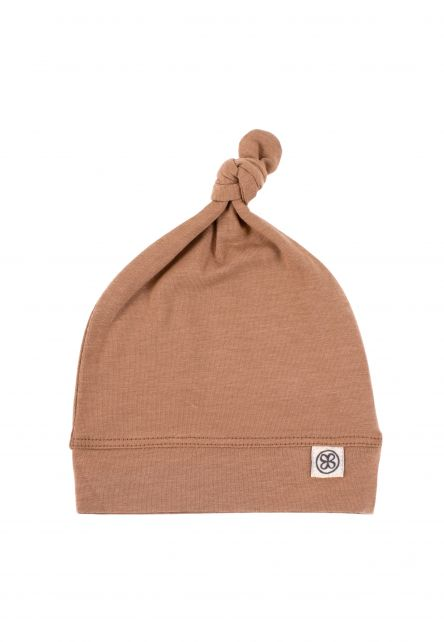 Cloby---UV-resistant-Beanie-hat-for-babies---Coconut-Brown