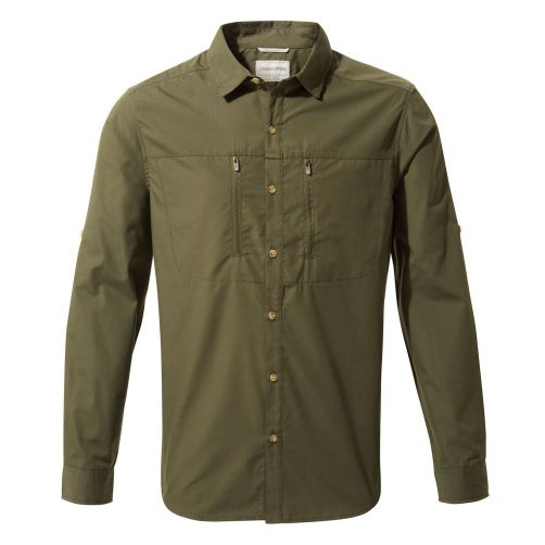 Craghoppers---UV-Shirt-for-men---Longsleeve---Kiwi-Boulder---Dark-Khaki