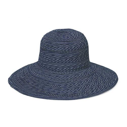 Emthunzini-Hats---UV-Floppy-sun-hat-for-women---Scrunchie---Navy