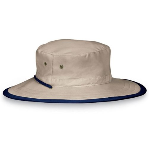 Emthunzini-Hats---UV-Bucket-hat-for-kids-and-adults---Explorer---Camel/Navy