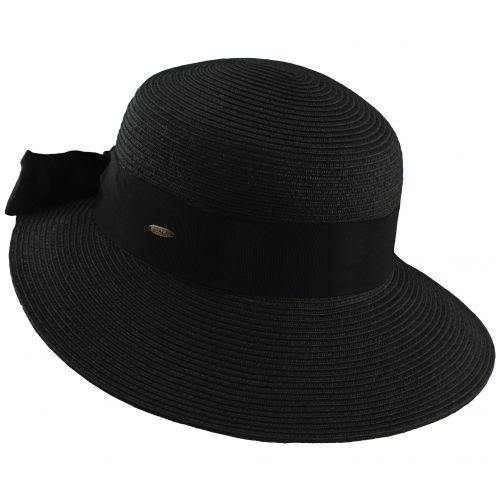 Scala---UV-hat-braided-for-women---Black