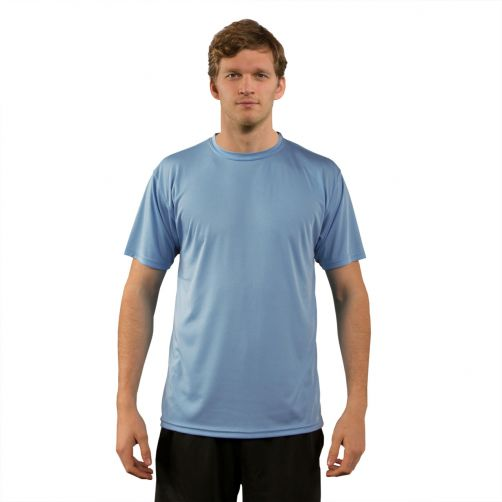 Vapor Apparel - Men's UV-shirt with short sleeves - light blue - Front