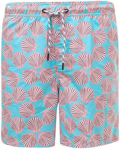 Snapper-Rock---Boardshorts-for-Men---Shell-Print---Blue/Orange