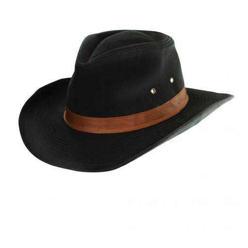 Dorfman-Pacific---UV-hat-outback-for-Men---Black