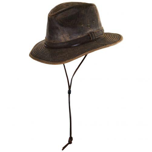 Dorfman-Pacific---UV-hat-for-men---Brown