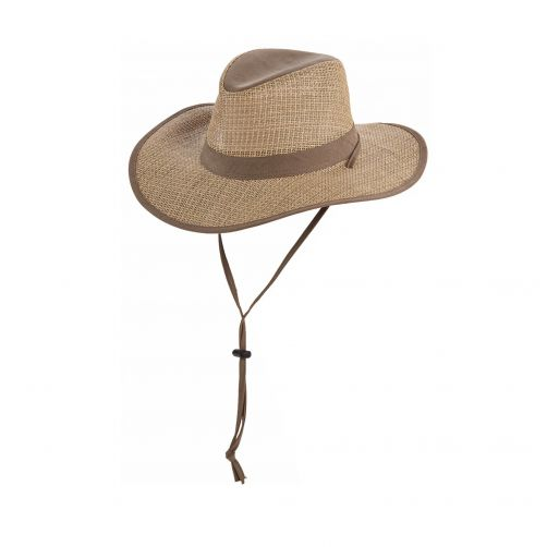 Dorfman-Pacific---Safari-seagrass-hat-for-Men---Olive