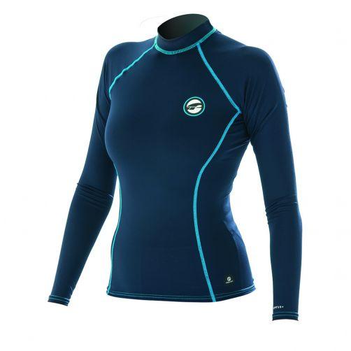 Prolimit---Swim-shirt-for-women-with-long-sleeves---darkblue