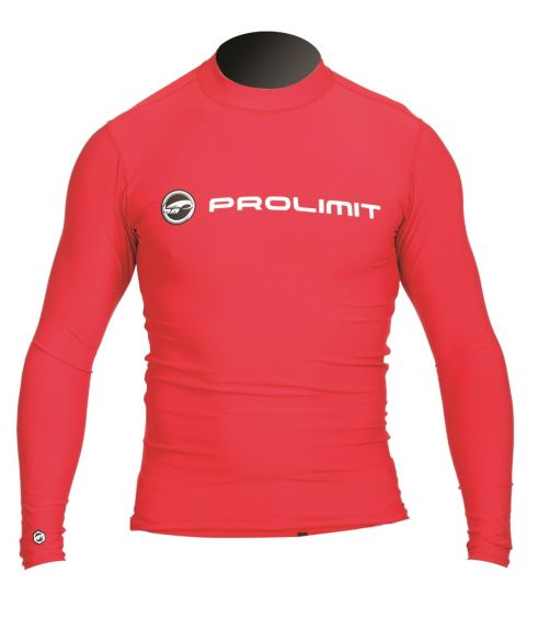 Prolimit---Swim-shirt-for-men-with-long-sleeves---Red
