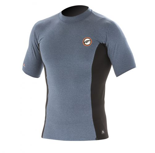 Prolimit---Swim-shirt-for-men-with-short-sleeves---Grey-/-black