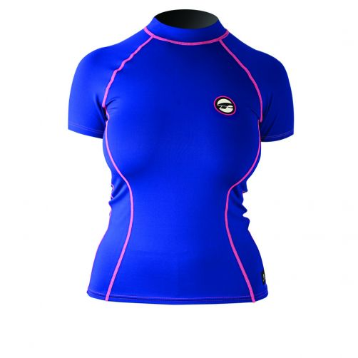 Prolimit---Swim-shirt-for-women-with-short-sleeves---Blue-/-pink