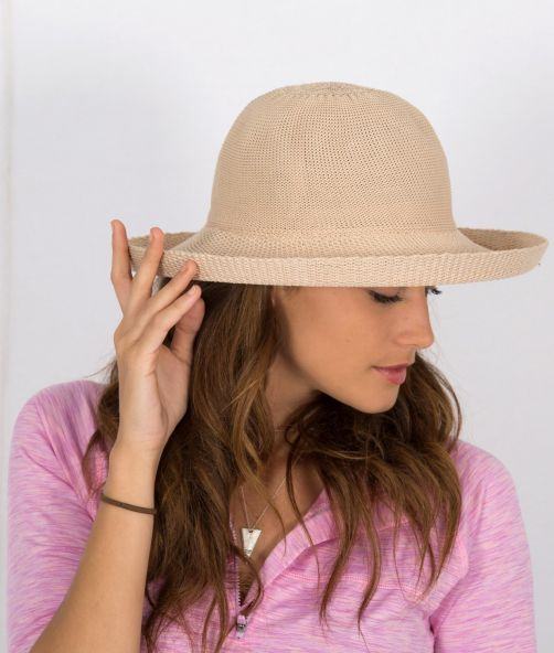 Rigon---UV-sun-hat-for-women---Suede-beige