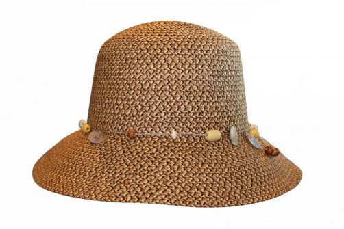Rigon---UV-bucket-hat-for-women---Chocolate-brown-fleck