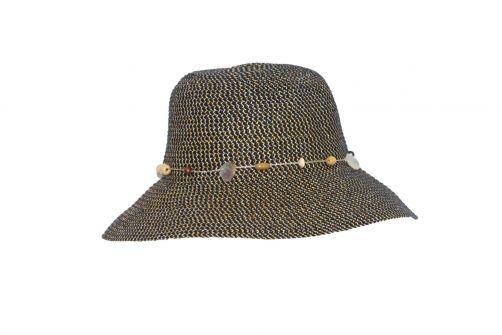Rigon---UV-bucket-hat-for-women---Navy-blue-fleck