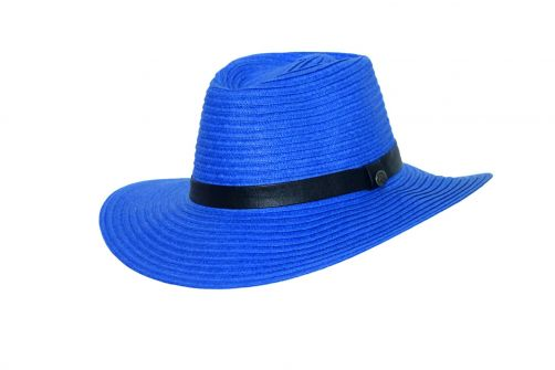 Rigon---UV-fedora-hat-for-women---Royal-blue