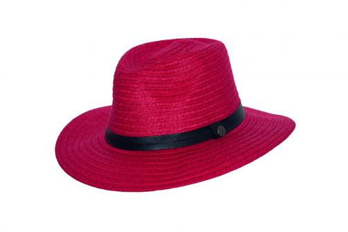 Rigon---UV-fedora-hat-for-women---Ruby-red