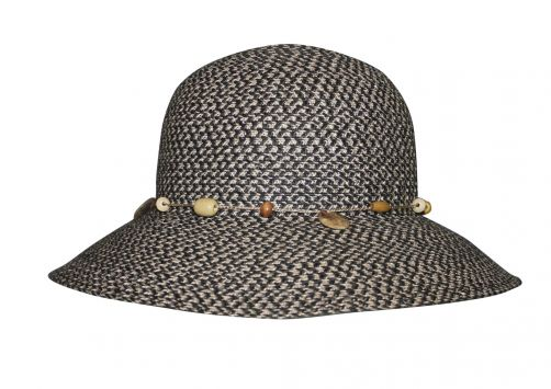 Rigon---UV-bucket-hat-for-women---Charcoal-grey-fleck