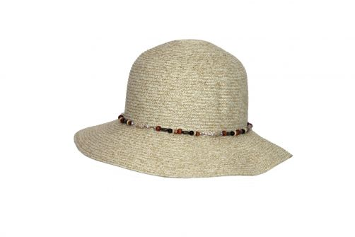 Rigon---UV-bucket-hat-for-women-with-beads---Ivory