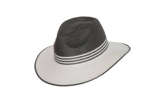 Rigon---UV-fedora-hat-for-women---Grey-/-ivory