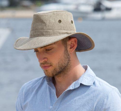 Rigon---UV-Safari-hat-for-men---Stone-beige