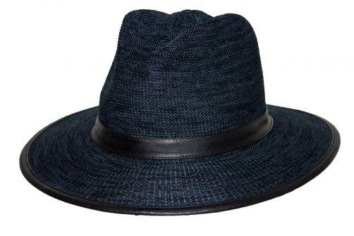 Rigon---UV-fedora-hat-for-men---Joel---Mixed-navy-blue