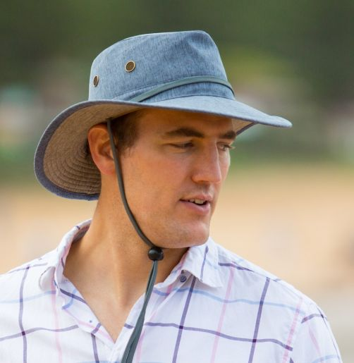 Rigon---UV-Safari-hat-for-men---Simon---Blue-marle