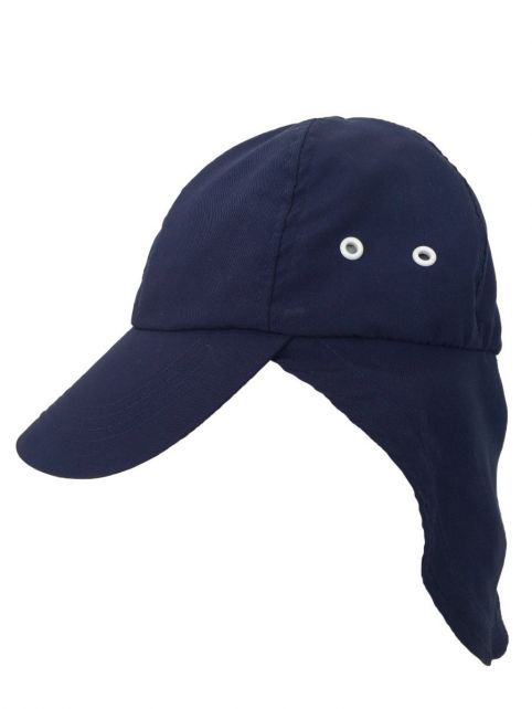 Rigon---UV-sun-cap-with-neck-flap-for-children---Navy-blue