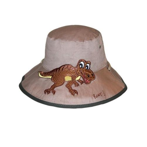 Rigon---UV-bucket-hat-for-children---Khaki-dino