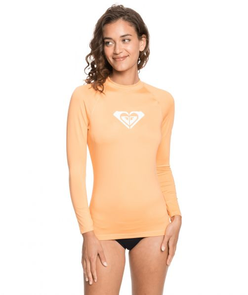 Roxy---UV-Swim-shirt-for-women---Longsleeve---Whole-Hearted---Salmon