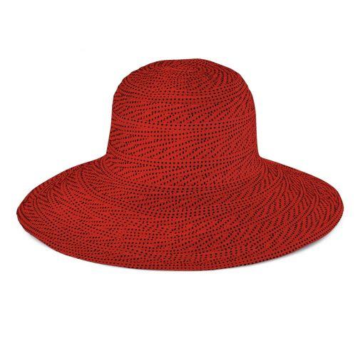 Emthunzini-Hats---UV-Floppy-sun-hat-for-women---Scrunchie---Red