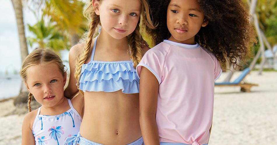 Girls UV clothing and swimwear